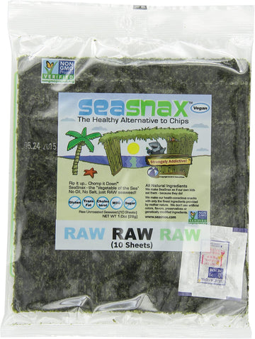 Raw Seaweed Sheets 28g