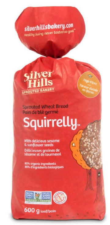 Squirrelly Sprouted WG Bread  600g