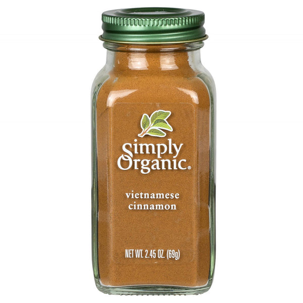Simply Organic Cinnamon Organic Bottled Spices 69g 69g