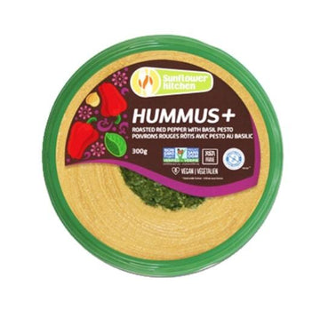 Hummus Roasted Red Pepper Basil 300g