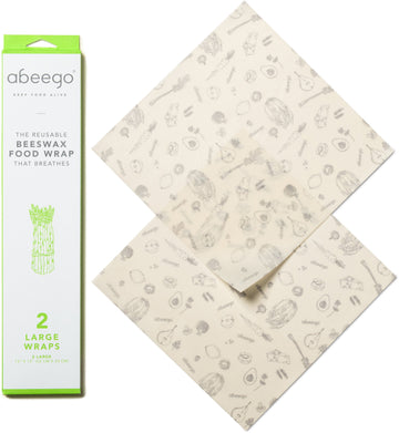 Food Wrap Beeswax Large 2pk