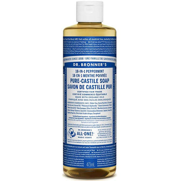 Peppermint Castile Soap Organic (473ml/946ml/3.8L)