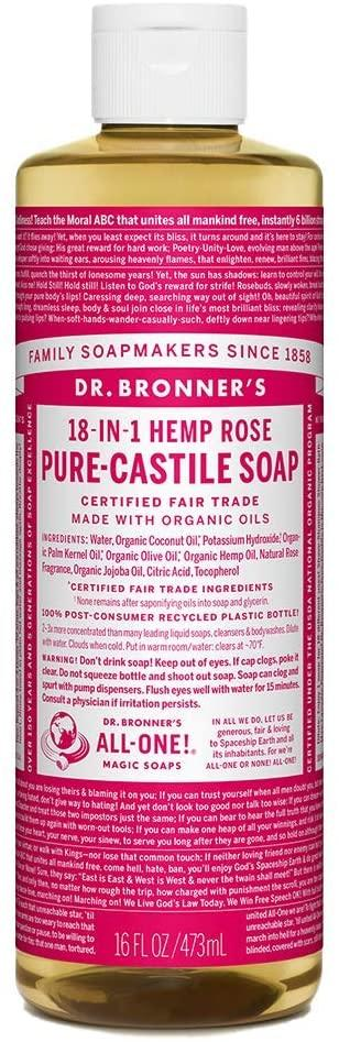 Rose Castile Soap Organic (473ml/946ml)