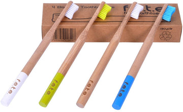 Bamboo Toothbrush Multipack Soft 4 pk