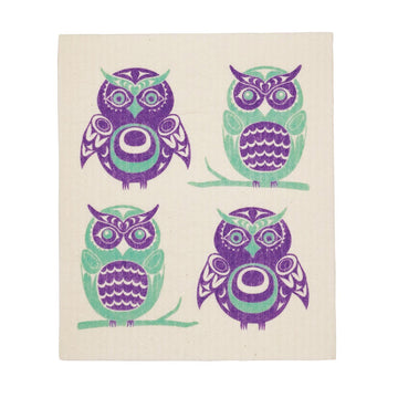 Eco Dishcloth Owls