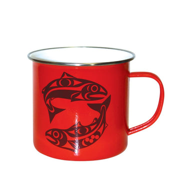 Mug Enamel Red Salmon
