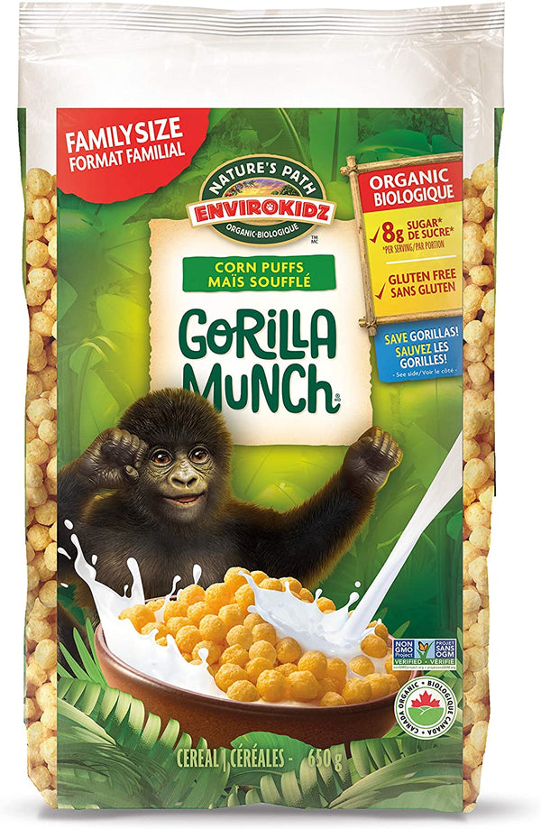 Nature's Path Gorilla Munch EnviroKidz Eco Pac Cereal 650g