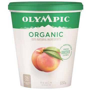 Peach Organic Yogurt 650g