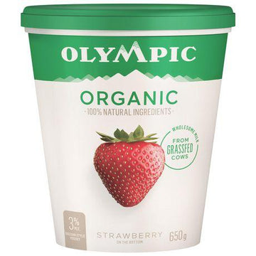Strawberry Yogurt Organic 650g