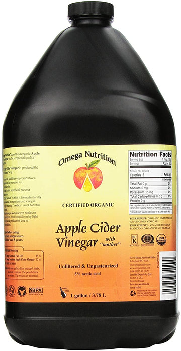 Vinegar Apple Cider Organic 3.78L