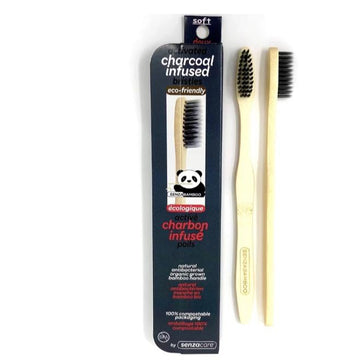 Toothbrush Bamboo Activated Charcoal Adult