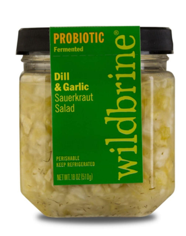 Wildbrine Dill & Garlic Raw Sauerkraut 500ml