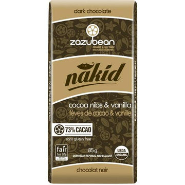 Nakid Organic Chocolate Bar 85g