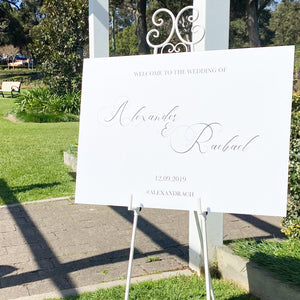 Rachael Foam Board Welcome Sign