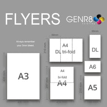Load image into Gallery viewer, Flyers A4 Bi-Fold