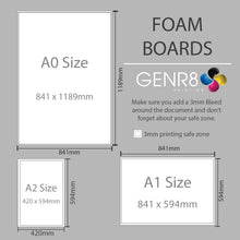Load image into Gallery viewer, Foam Board Sign A0