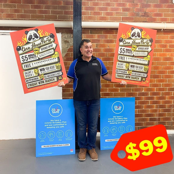 4 CORFLUTE SIGNS - BUNDLE $99