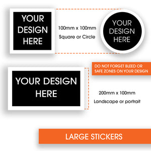 Stickers Large 100x100mm