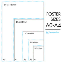 Load image into Gallery viewer, Posters A3
