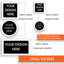 Load image into Gallery viewer, Stickers Small 25x25mm