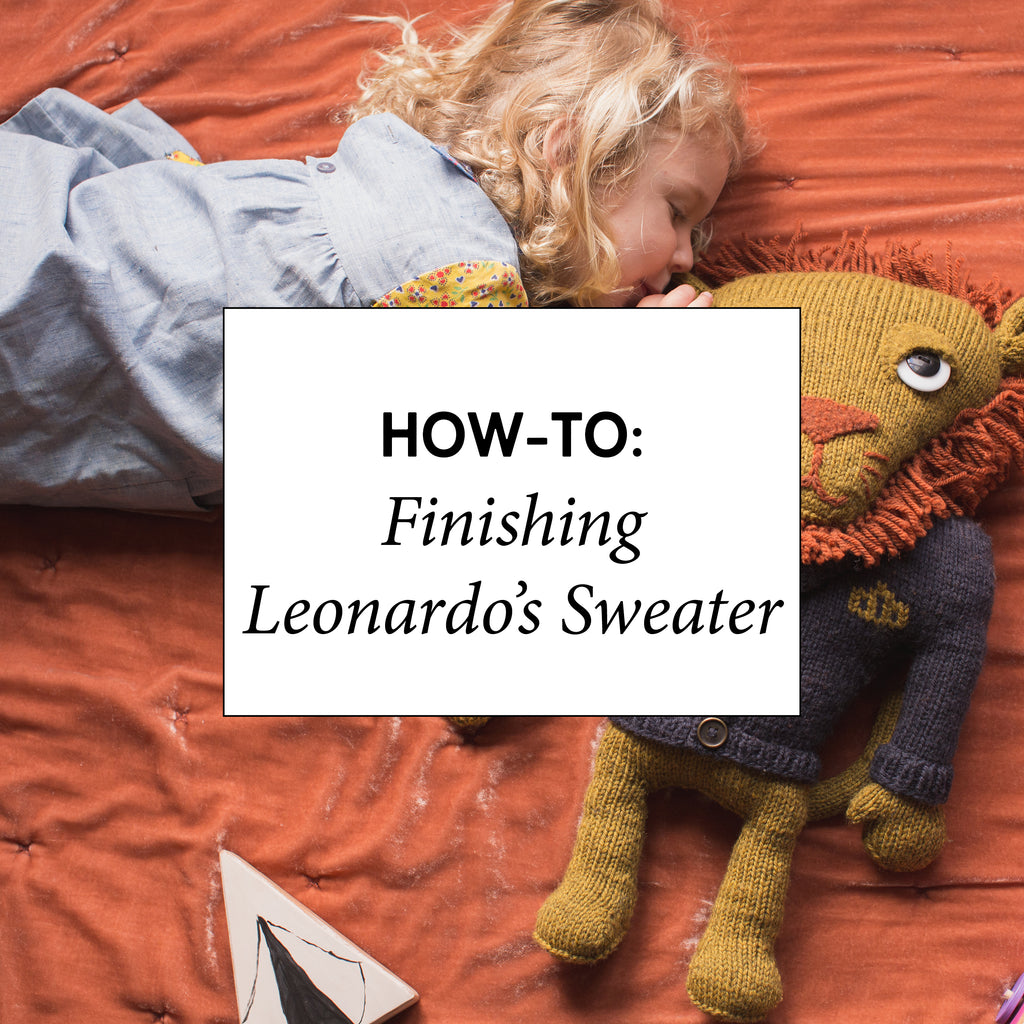 How-To: Finishing Leonardo's Sweater