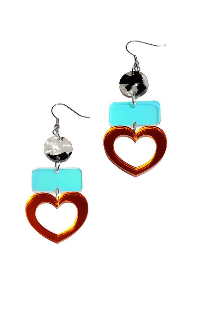 Marmalade Mirror Heart Dangles