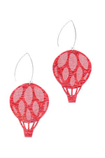 Cherry Marble Hot-Air Balloon Dangles