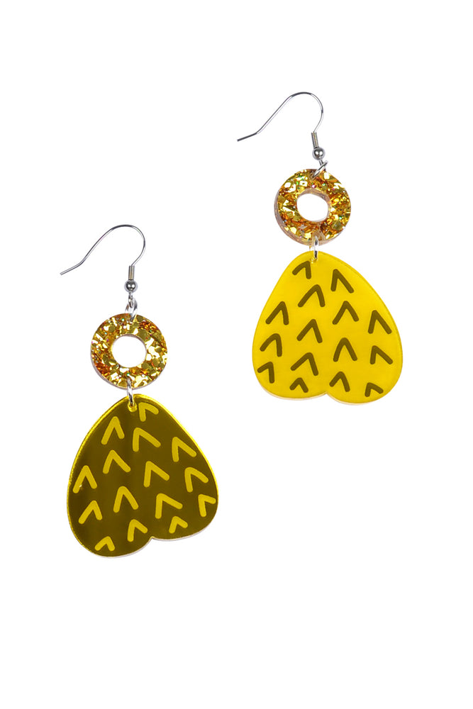 Honey Etched & Mirror Fruity Dangles
