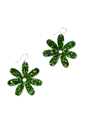 Forest Sparkle Daisy Dangles - Keshet Unique Colourful Women's Clothing Tasmania Australia