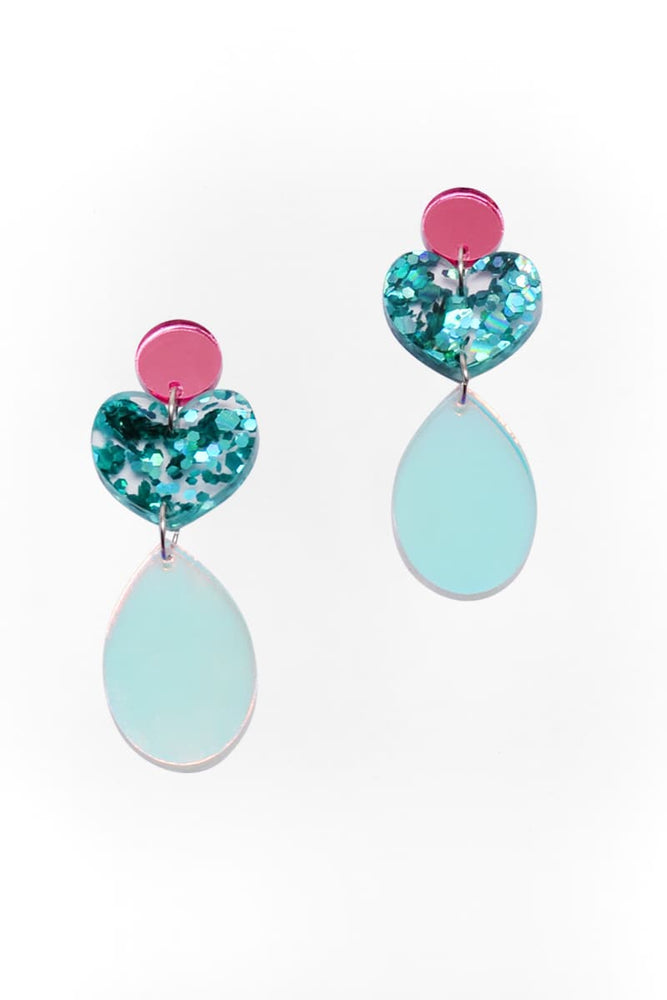 Iridescent Tear Sparkle Dangles