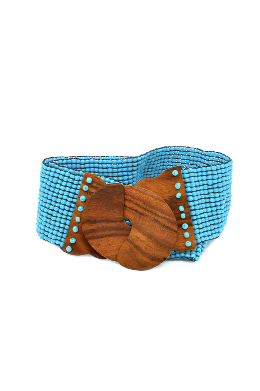 Beaded Coconut Clasp Belt - Keshet Unique Colourful Women's Clothing Tasmania Australia