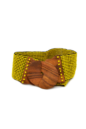 Load image into Gallery viewer, Beaded Coconut Clasp Belt - Keshet Design