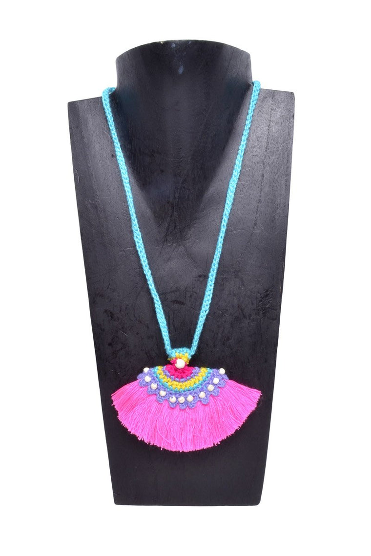 Boho Tassel Fan Necklace - Keshet Unique Colourful Women's Clothing Tasmania Australia