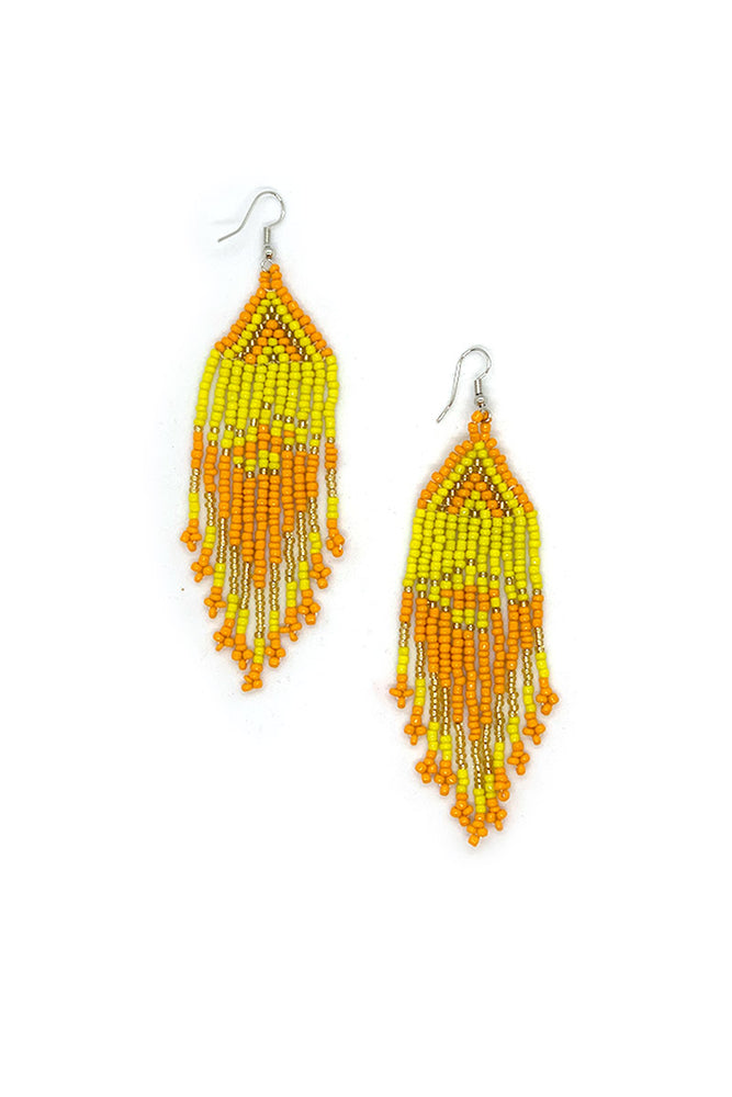 Rosa Beaded Earrings - Keshet Unique Colourful Women's Clothing Tasmania Australia