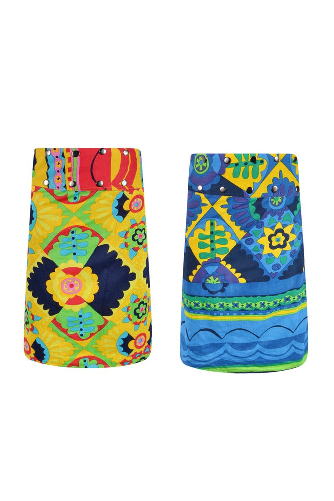 Load image into Gallery viewer, Cotton 3/4 Reversible Button Skirt - Keshet Design