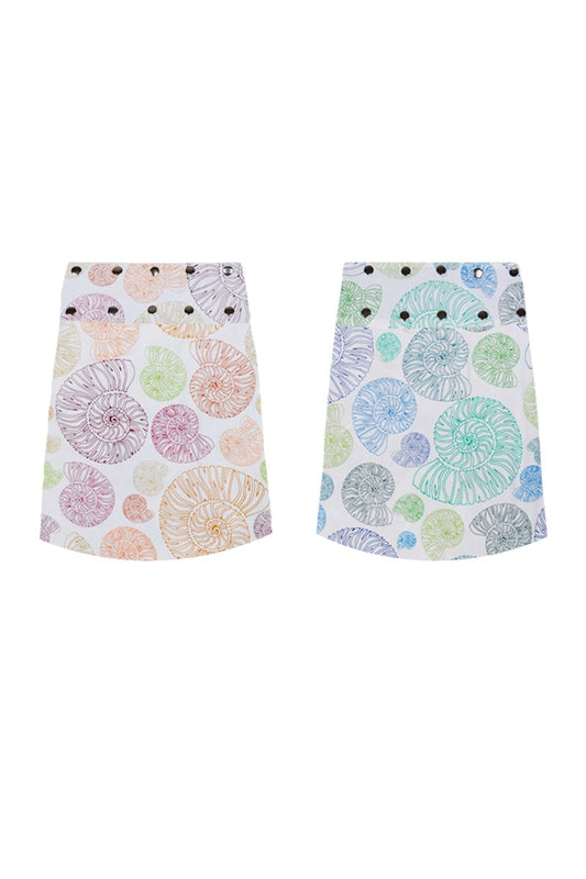 Short Reversible Button Skirt