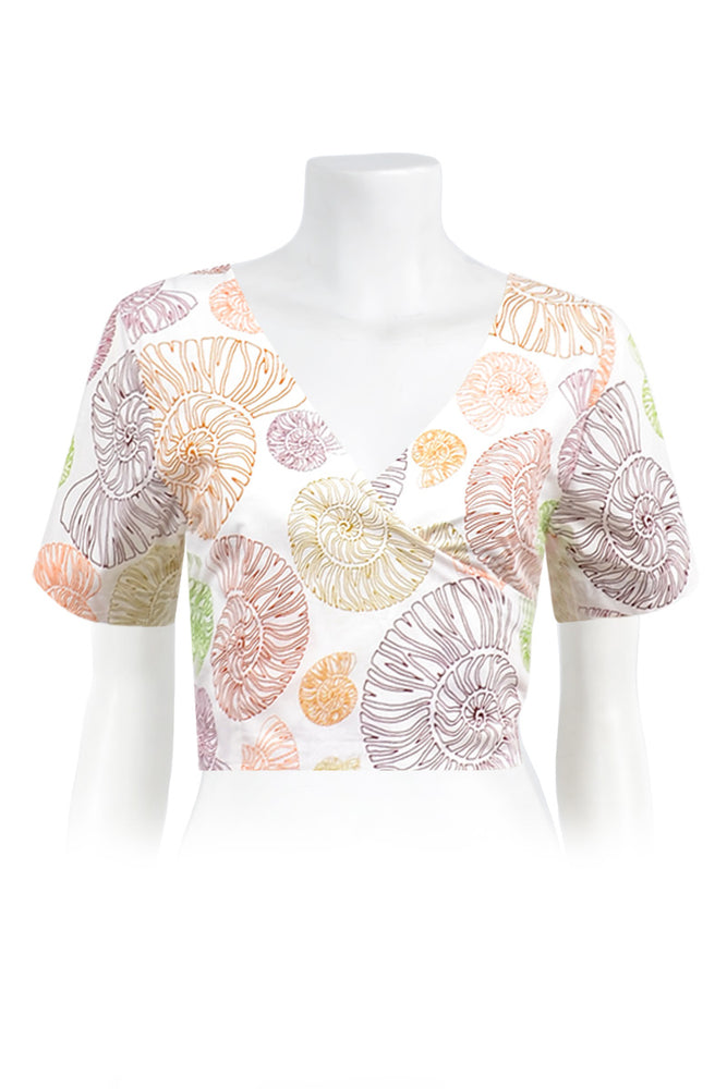 Load image into Gallery viewer, Nina Wrap Crop Top Prints