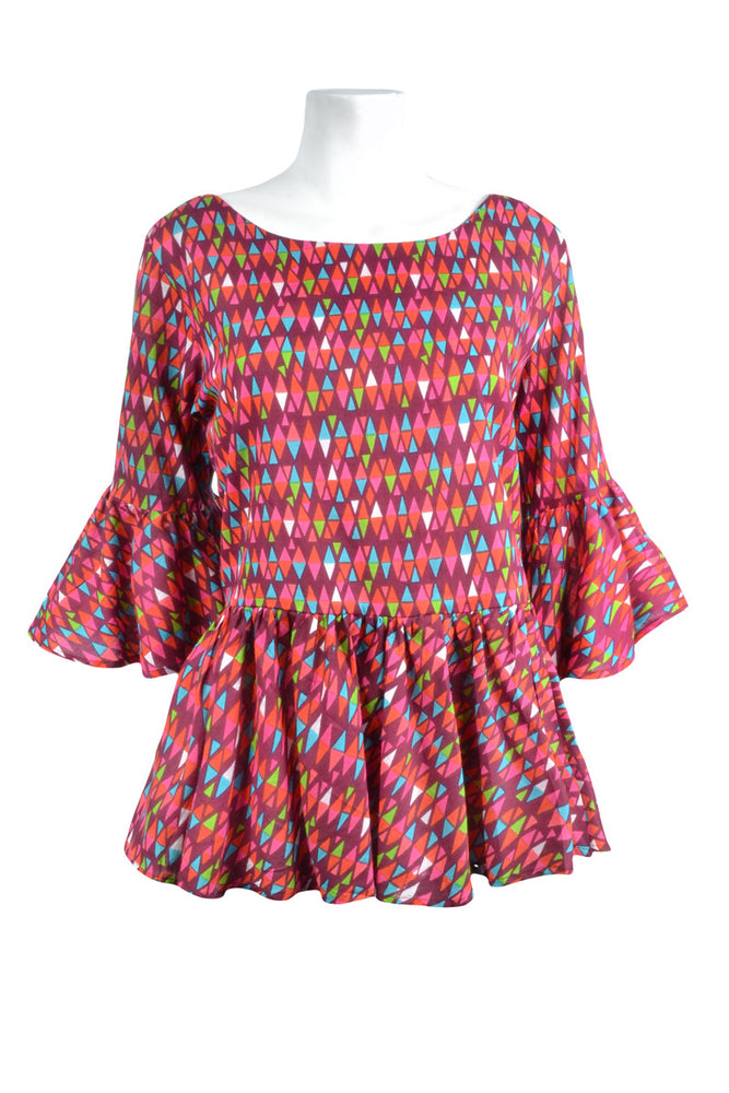 Load image into Gallery viewer, Poppy Ruffle Top - Clearance - Keshet Unique Colourful Women's Clothing Tasmania Australia