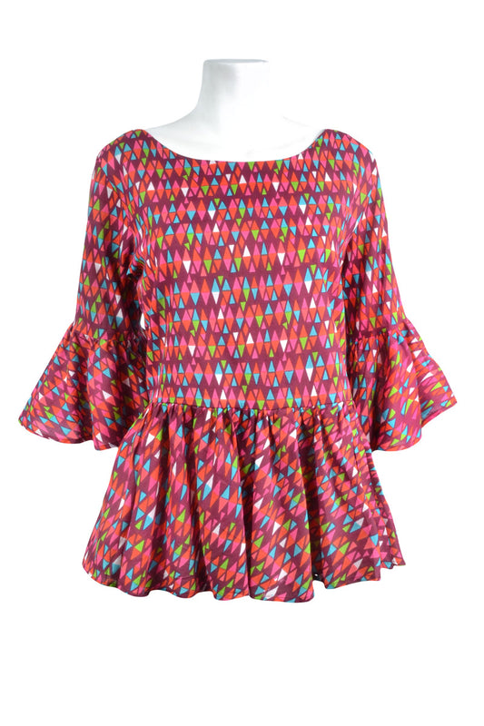 Poppy Ruffle Top - Keshet Unique Colourful Women's Clothing Tasmania Australia
