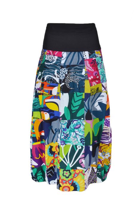 The Up-Cycled Patchwork Skirt - Keshet Unique Colourful Women's Clothing Tasmania Australia