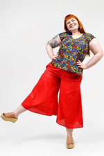 Florence Capri Pants Plain - Keshet Unique Colourful Women's Clothing Tasmania Australia