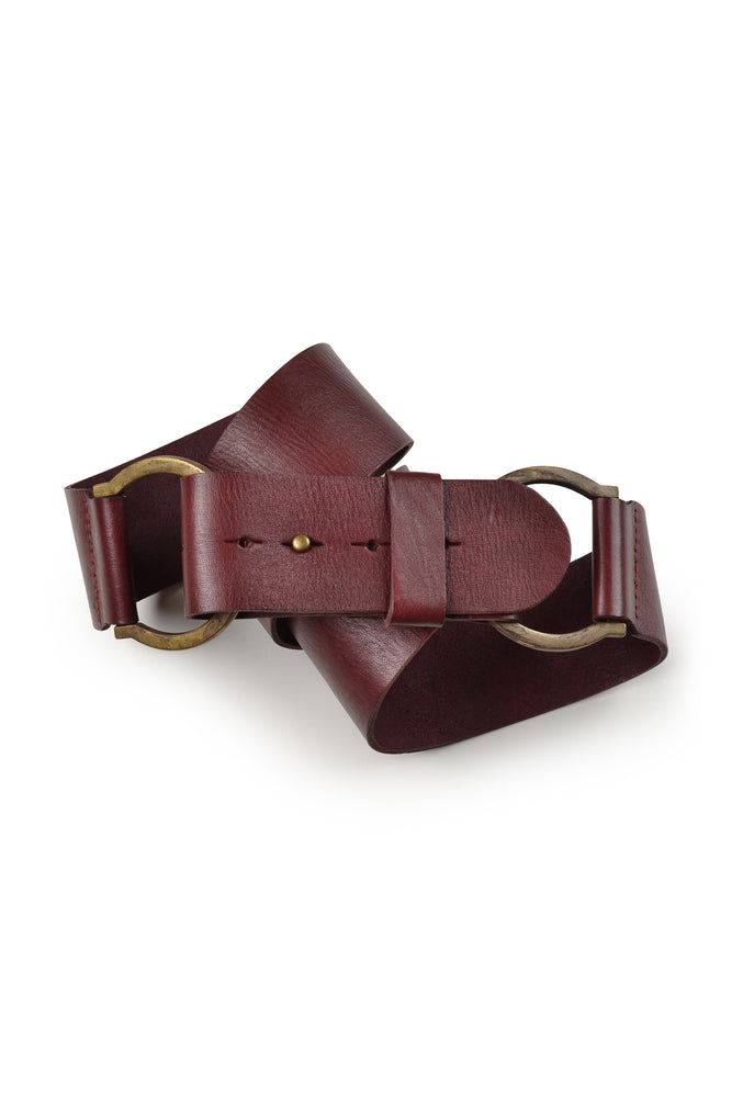 Statement Double Hoop Leather Belts