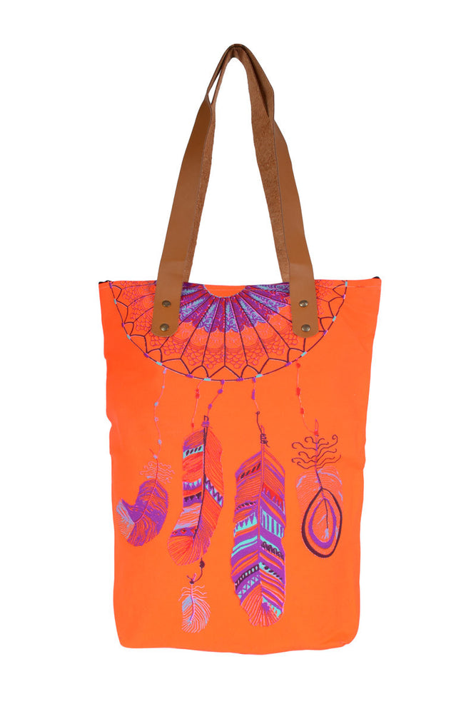 Load image into Gallery viewer, Dreamcatcher Fluoro Tote Bags - Keshet Design