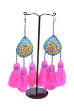Embellished 3 Tassel Earrings
