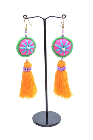 Load image into Gallery viewer, Embellished Tassel Earrings - Keshet Unique Colourful Women's Clothing Tasmania Australia