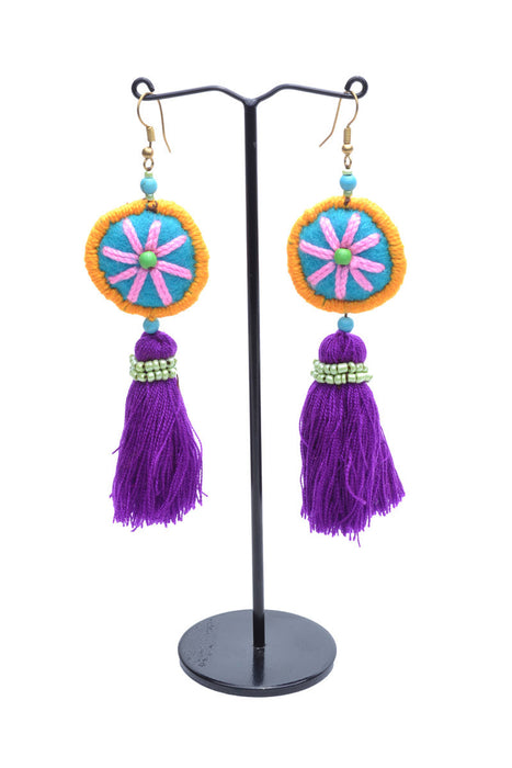 Embellished Tassel Earrings - Keshet Clothing Tasmania