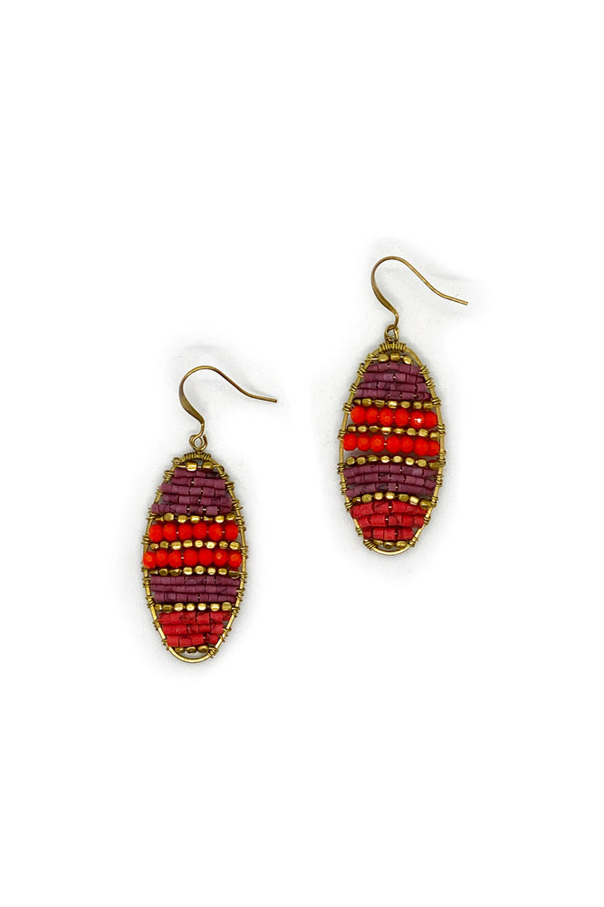 Eadie Eclipse Earrings - Keshet Unique Colourful Women's Clothing Tasmania Australia