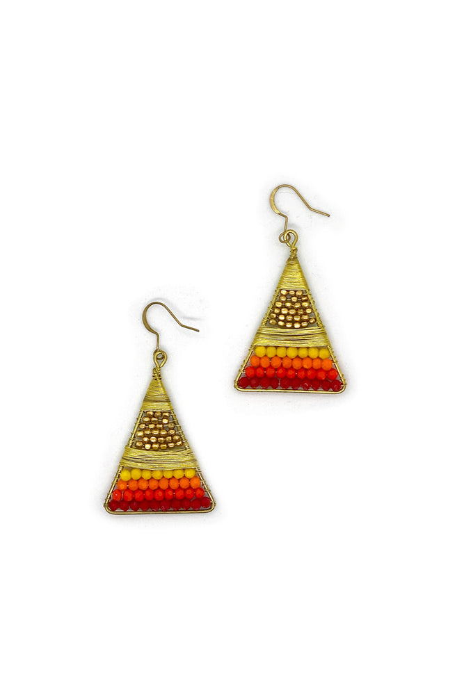 Eadie Triangle Earrings - Keshet Unique Colourful Women's Clothing Tasmania Australia