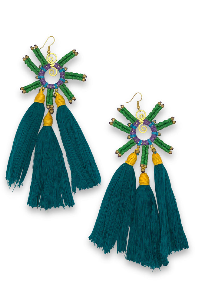 Load image into Gallery viewer, Ursula Tassel Earrings - Keshet Unique Colourful Women's Clothing Tasmania Australia