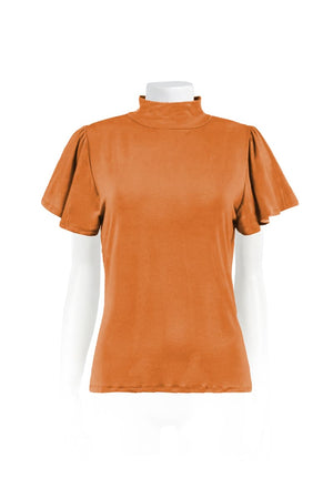 Load image into Gallery viewer, Basic Ana Ruffle Tee